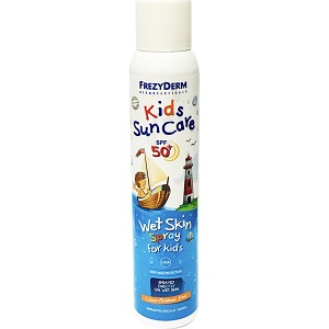 frezyderm kids sun care wet skin spray